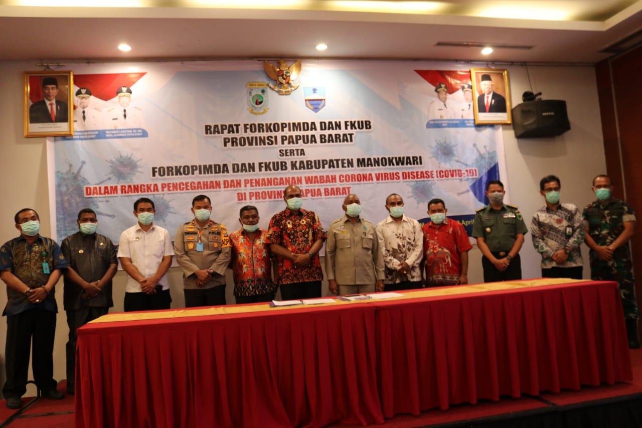 Forkopimda bersama FKUB Mendukung Prov. Papua Barat gelar rapat kesepakatan bersama.